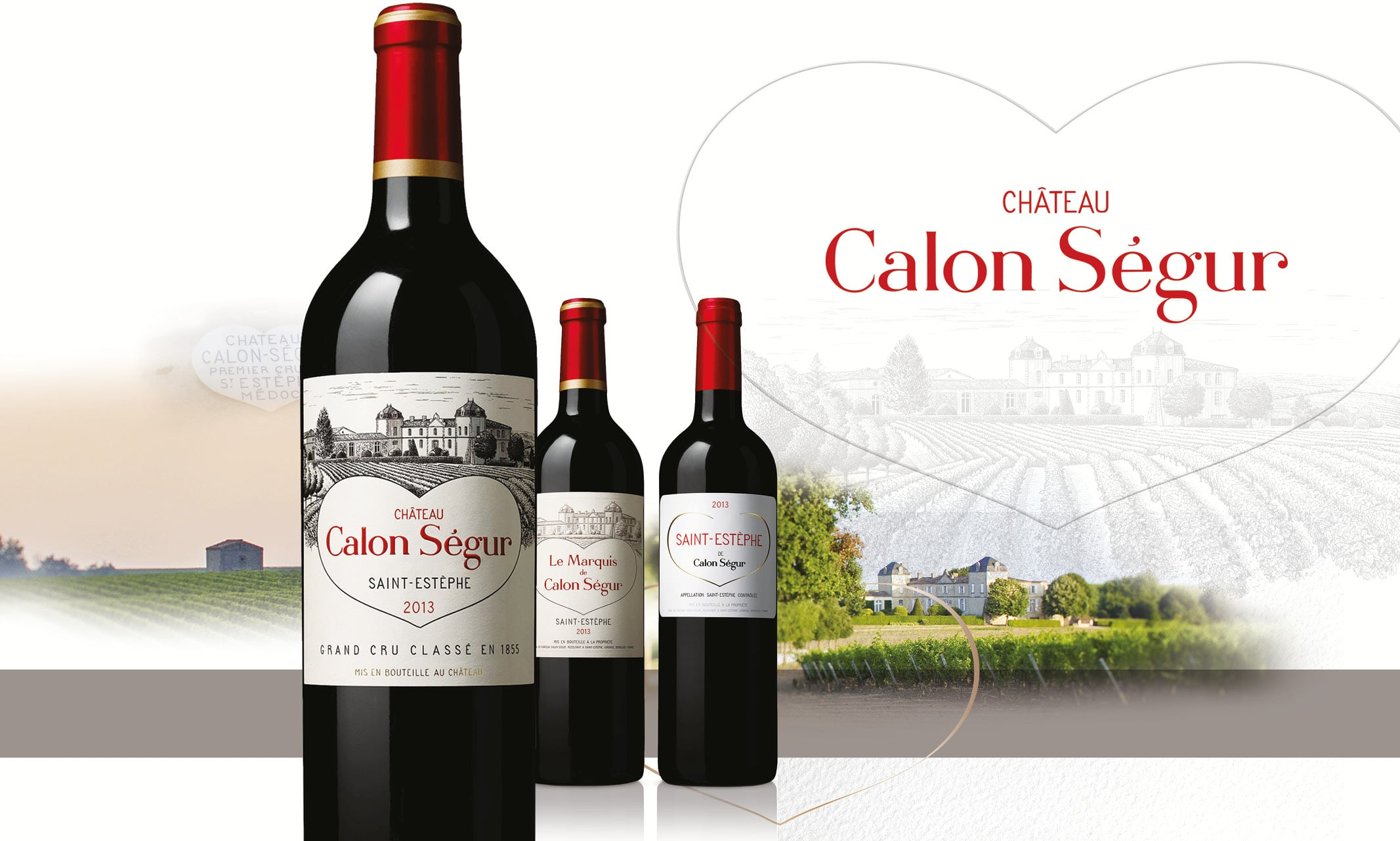 Calon Ségur identité de marque & habillage bouteilles © Médiane création